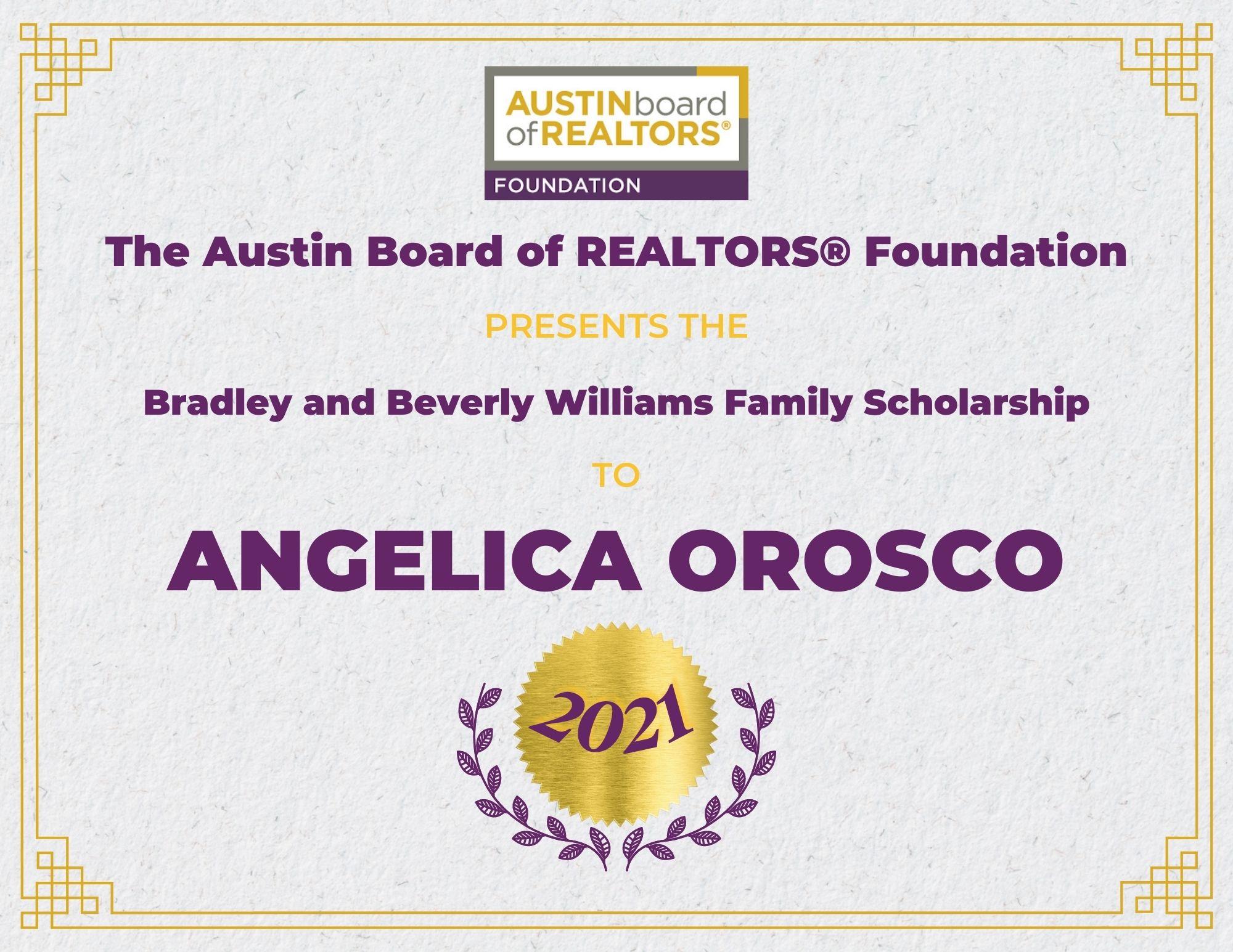 2021 Fou Scholarship Certificate Angelicaorosco