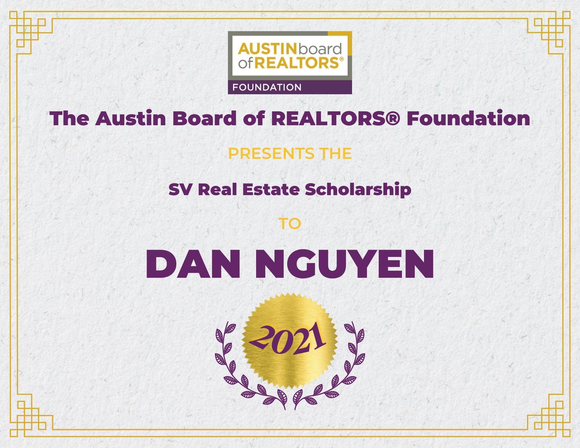 2021 Fou Scholarship Certificate Dannguyen