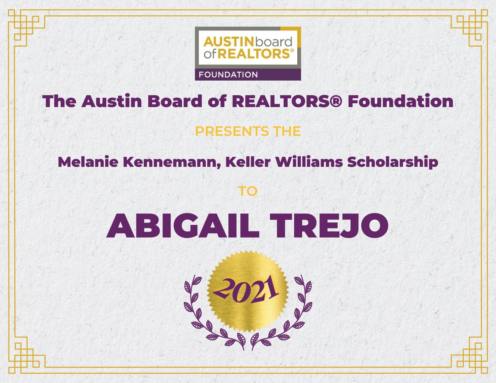 2021 Fou Scholarship Certificate Abigailtrejo