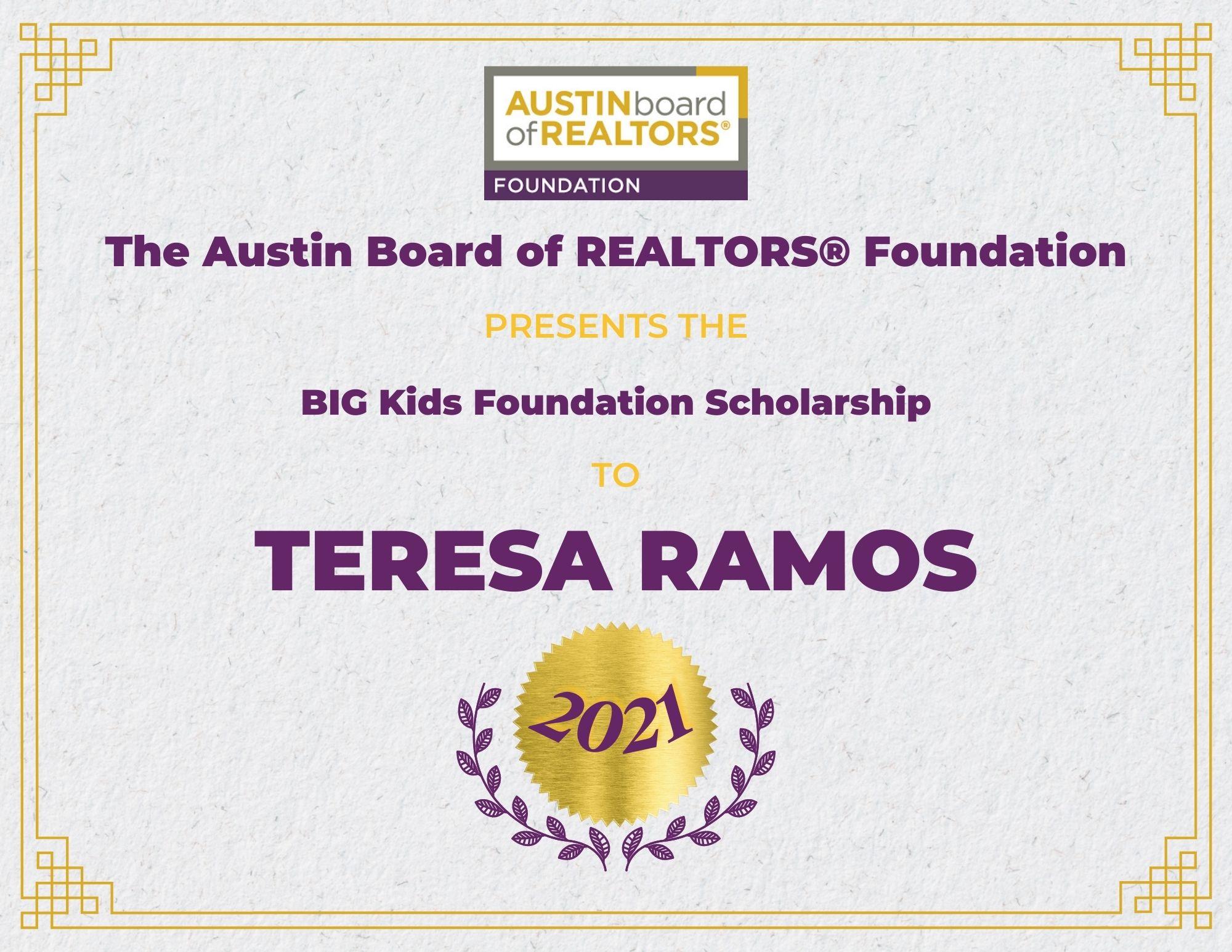 2021 Fou Scholarship Certificate_Teresaramos